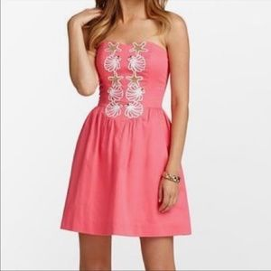 Lilly Pulitzer Mayfield Strapless Starfish Dress